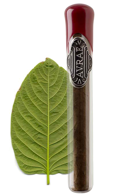 Avrae Connecticut product shot, cigar and leaf
