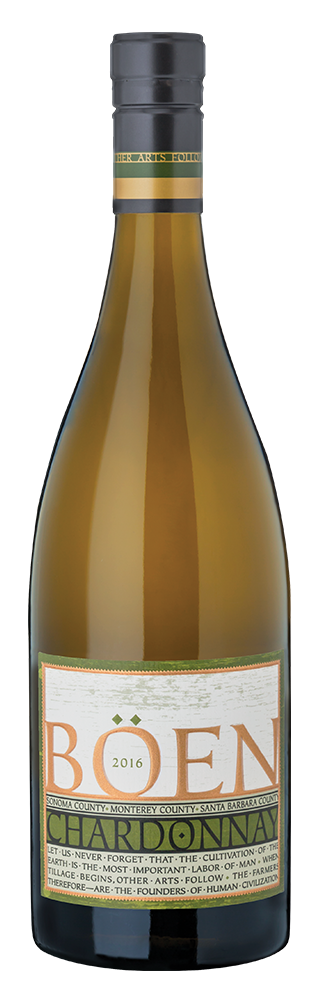 2016 Boen Tri Appellation Chardonnay bottle shot