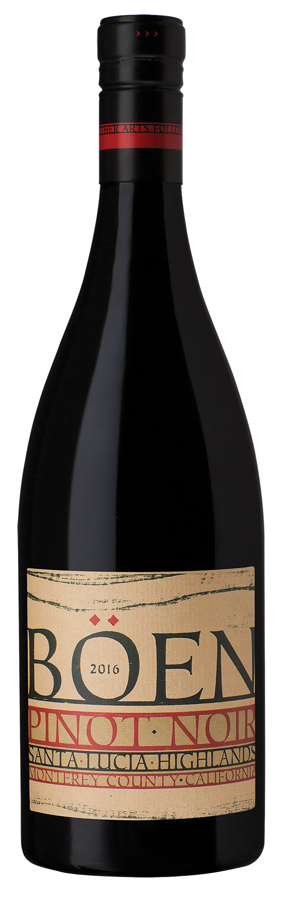 2016 BÖEN Santa Lucia Highlands Pinot Noir bottle shot