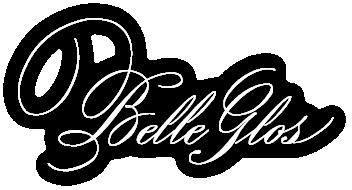 Belle Glos logo white