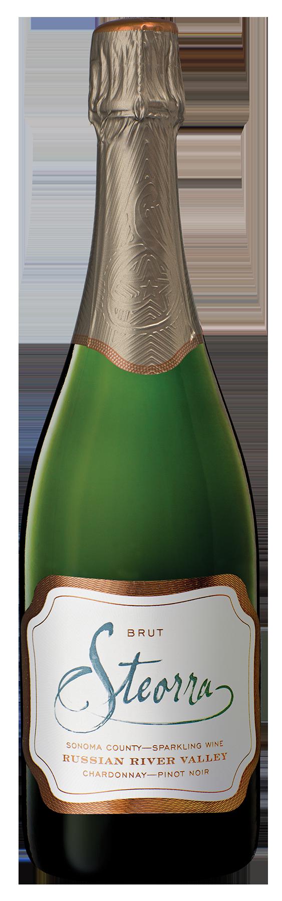 Russian River Valley Brut Sparkling Wine bottle shot