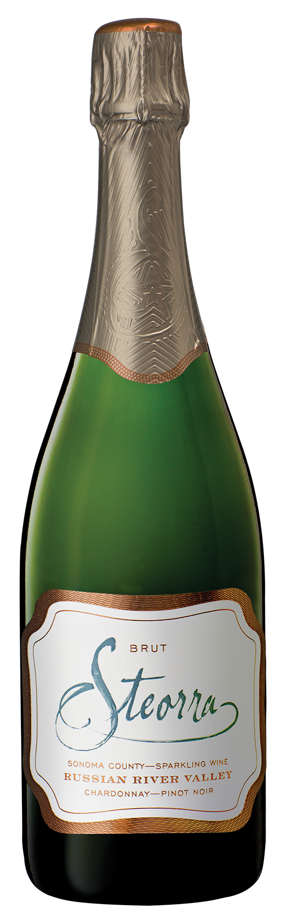 Steorra Russian River Valley Brut Sparkling Wine bottle shot