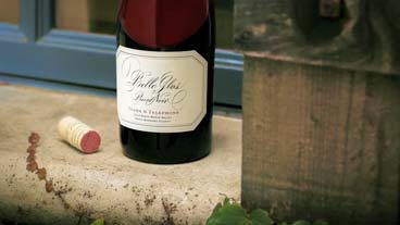 Rustic bottle shot of Belle Glos Clark & Telephone