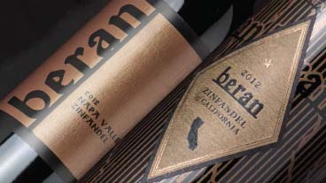 Two beran wine labels - zinfandel wines